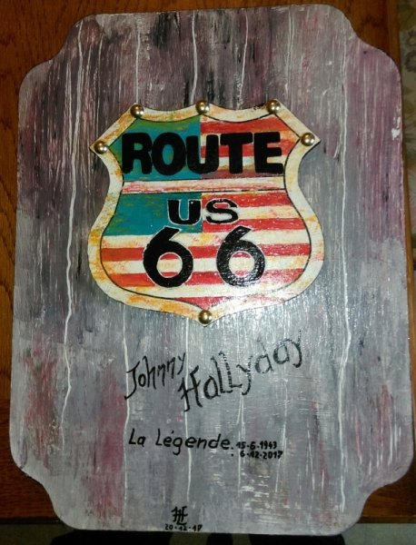 D镃O, DESIGN Route 66 D閏o Johnny Tableau Route 66 Joh Paysages  - N�2  Route 66 Johnny H
