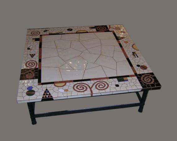 Dco design salon decoration mosaique table basse for Decoration table basse de salon