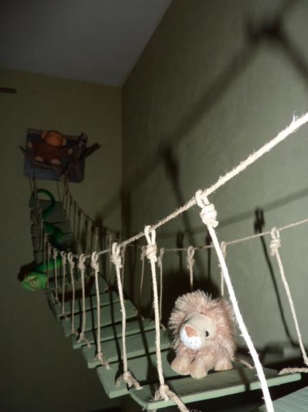 Dco design singe pont bois animaux pont de singe suspendu - Fabriquer un pont en bois ...
