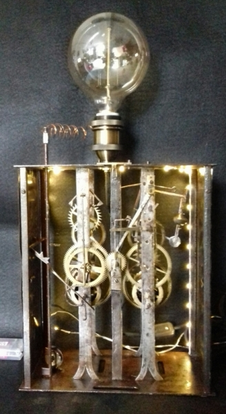 DéCO, DESIGN steampunk industriel lampe  - p# clockwork