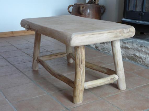 DCO, DESIGN table bois deco design  table massive