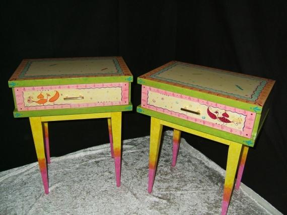 dco  design table de nuit colore  u0026quot rverie u0026quot  mobilier decoratif