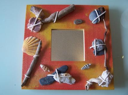 D co design tableau miroir coqui bois coquillage for Miroir des modes 427