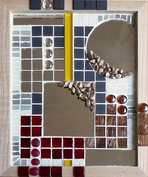 Dco design tableau miroir mosaque pte de verre dans for Miroir mosaique design
