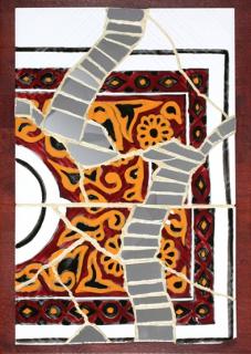d co design tableau plateau c ramique mosa que dans tous ses clats nabeul en feu. Black Bedroom Furniture Sets. Home Design Ideas