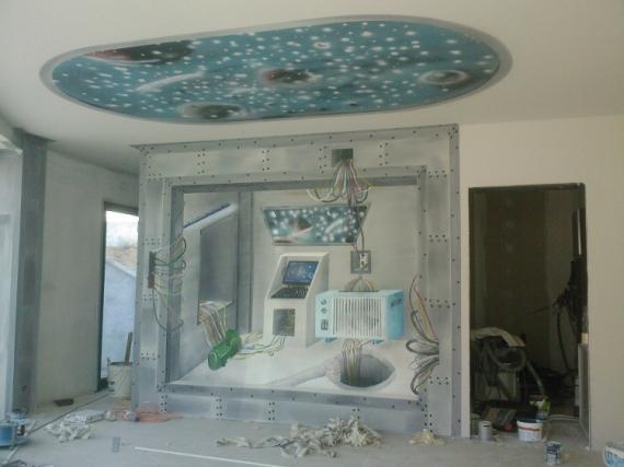 Dco design trompe l 39 oeil peinture dcoration vaisseau le vaisseau - Trompe l oeil peinture ...