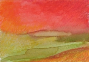 "dessin abstrait pastel ,a l huil art contemporain decoration design : ""Paysage imaginaire 7"" 14,7X21"