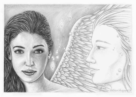 Bekannt DESSIN ange visage femme portrait - Appel de l'ange RO66
