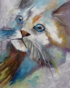 dessin animaux pastel animal chat : Miaou