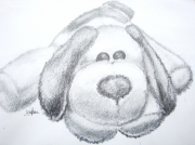 dessin animaux peluche chiot animal crayon : Peluche Chiot