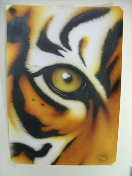 dessin aurel aerographe tigre