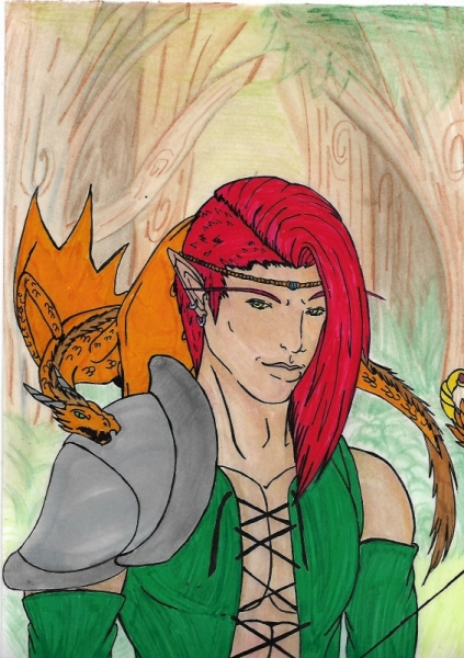 DESSIN blood elf elfe de sang wow Personnages Feutre  - Fan art elfe de sang