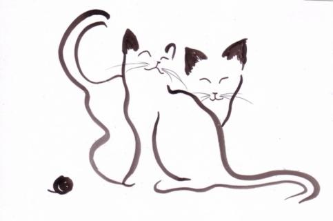 Dimanche poetique 7 le blog d 39 azi lis - Dessins de chat ...