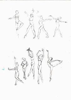 Dessin danseuse croquis danse danseuse - Dessiner une danseuse ...