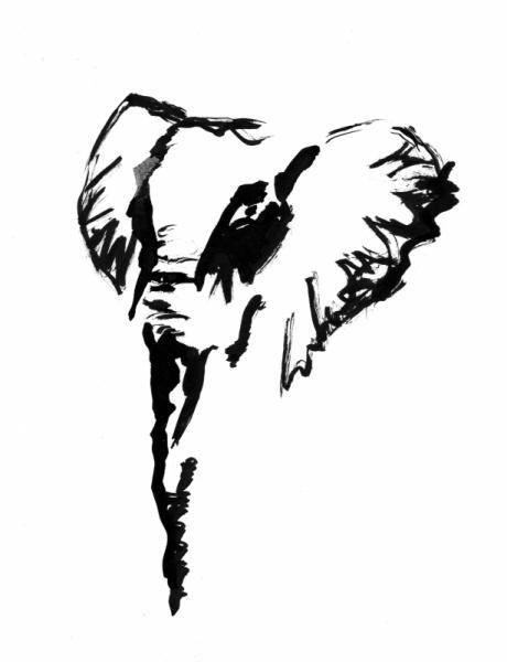 Dessin lphant sauvage savane afrique elphant ii - Dessin d afrique ...