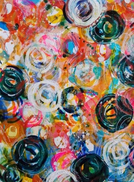 Dessin fleurs art contemporain cline marcoz peinture for Galerie art abstrait