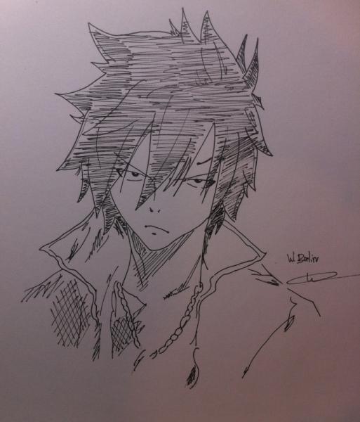dessin manga dessin anime greyfullbuster personnages crayon dessin grey fullbuster - Dessin Manga
