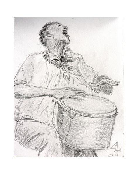 Dessin musicien cuba percus percussion cubaine - Dessin musicien ...