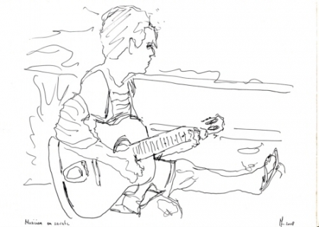 Dessin musicien en savate - Dessin musicien ...