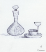 dessin : Nature morte au stylo bille
