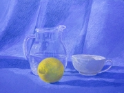 dessin nature morte citron : Nature Morte d'avril 17