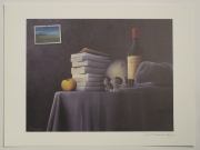 dessin nature morte gris crane : Tableau de Mangili- Reproduction par impression