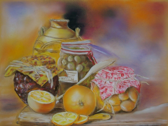 Dessin les confitures - Dessin nature morte ...