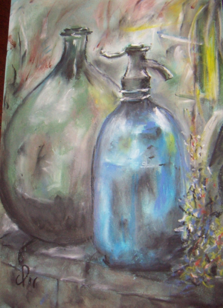 Dessin nature morte siphon pastel gras siphon and co - Dessin de nature morte ...