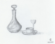 dessin nature morte : Un café?