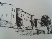 dessin paysages : chateau st victor