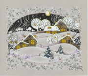 dessin paysages hiver nouvel an noel winter : Winter Time