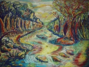 dessin paysages nature riviere arbre paysage : Water of Life