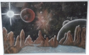 dessin paysages space art planete etoile imaginaire : Space Art