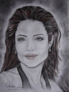dessin personnages : angelina jolie...