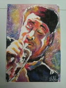 dessin personnages aquarelle jazz portrait aquarelle musicien jazz men : jazz men