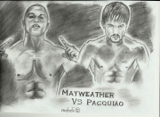 dessin personnages boxeurs mayweather pacquiao : Boxeurs