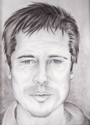 dessin personnages : brad pitt...