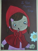 dessin personnages chaperon rouge fille fee conte : Petit chaperon rouge