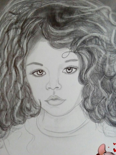 DESSIN Personnages Crayon  - petite fille