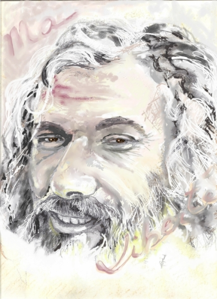 DESSIN Personnages  - georges moustaki