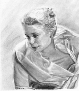 dessin personnages grace kelly portrait crayon : grace Kelly