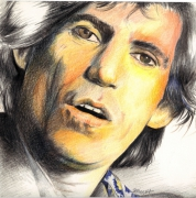 dessin personnages guitar heroes keith richards : keith Richards