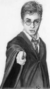 dessin personnages harry potter portrait crayon : Harry Potter