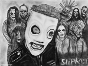 dessin personnages heavy metal groupe chanteur corey taylor : Slipknot