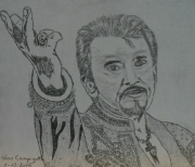 dessin personnages : Johnny Hallyday N° 6