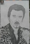 dessin personnages : Johnny Hallyday N° 75