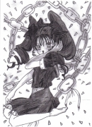 dessin personnages manga ecoliere : Tess
