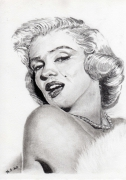 dessin personnages marylin monroe portrait crayon : Marylin Monroe