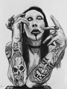 dessin personnages metal musique marilyn manson metal industriel : Marilyn Manson