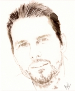 dessin personnages personnage aquarelle celebrite : tom cruise